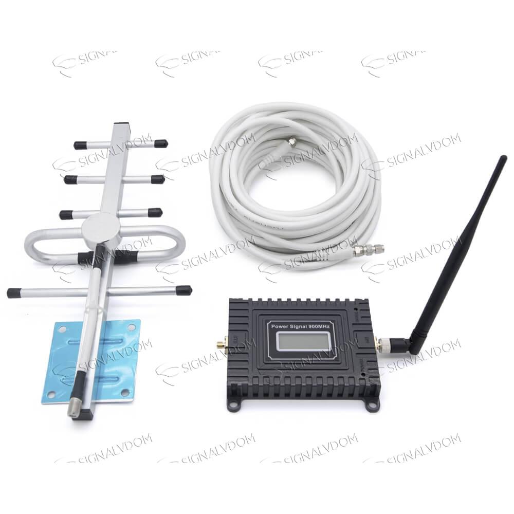 Усилитель сигнала Power Signal 900 MHz (для 2G) 65 dBi, кабель 10 м., комплект