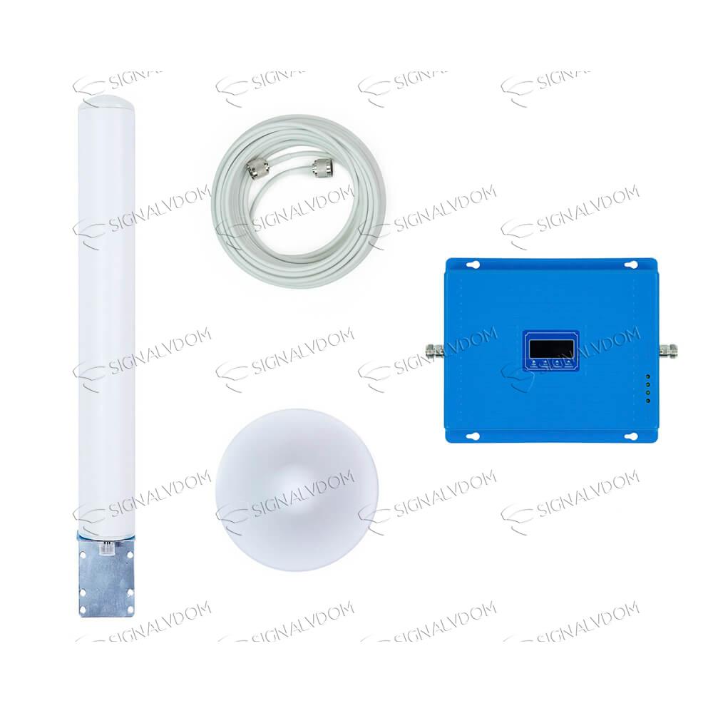 Усилитель сигнала Wingstel Premium 900/1800/2100/2600 MHz (для 2G/3G/4G) 65 dBi, кабель 15 м., комплект